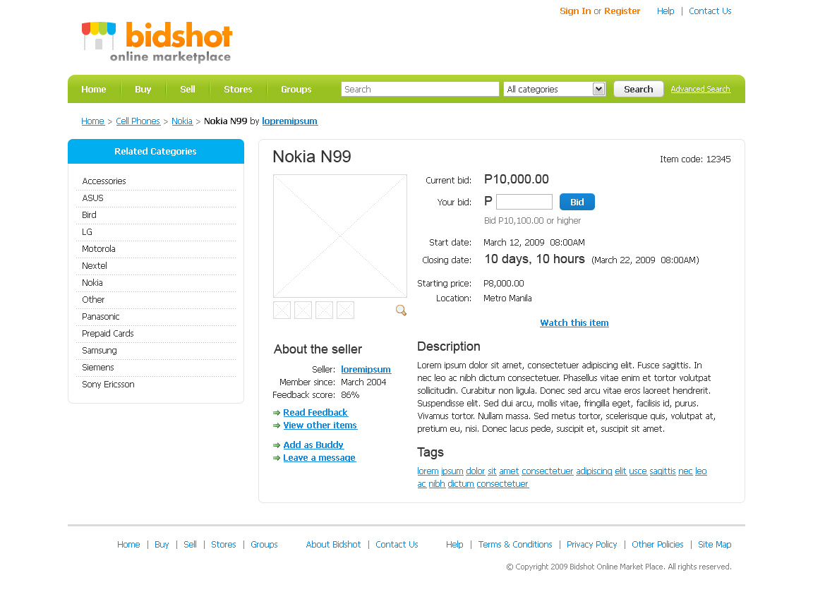 Bidshot - Website - Study - Detail