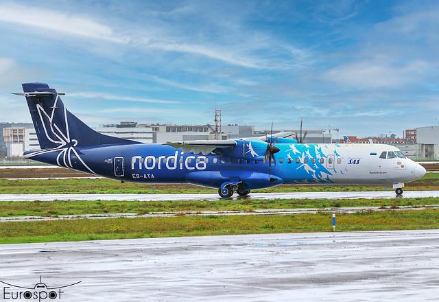 ES-ATA ATR72-600 Nordica s/n 1038 * Toulouse Blagnac 2021 *