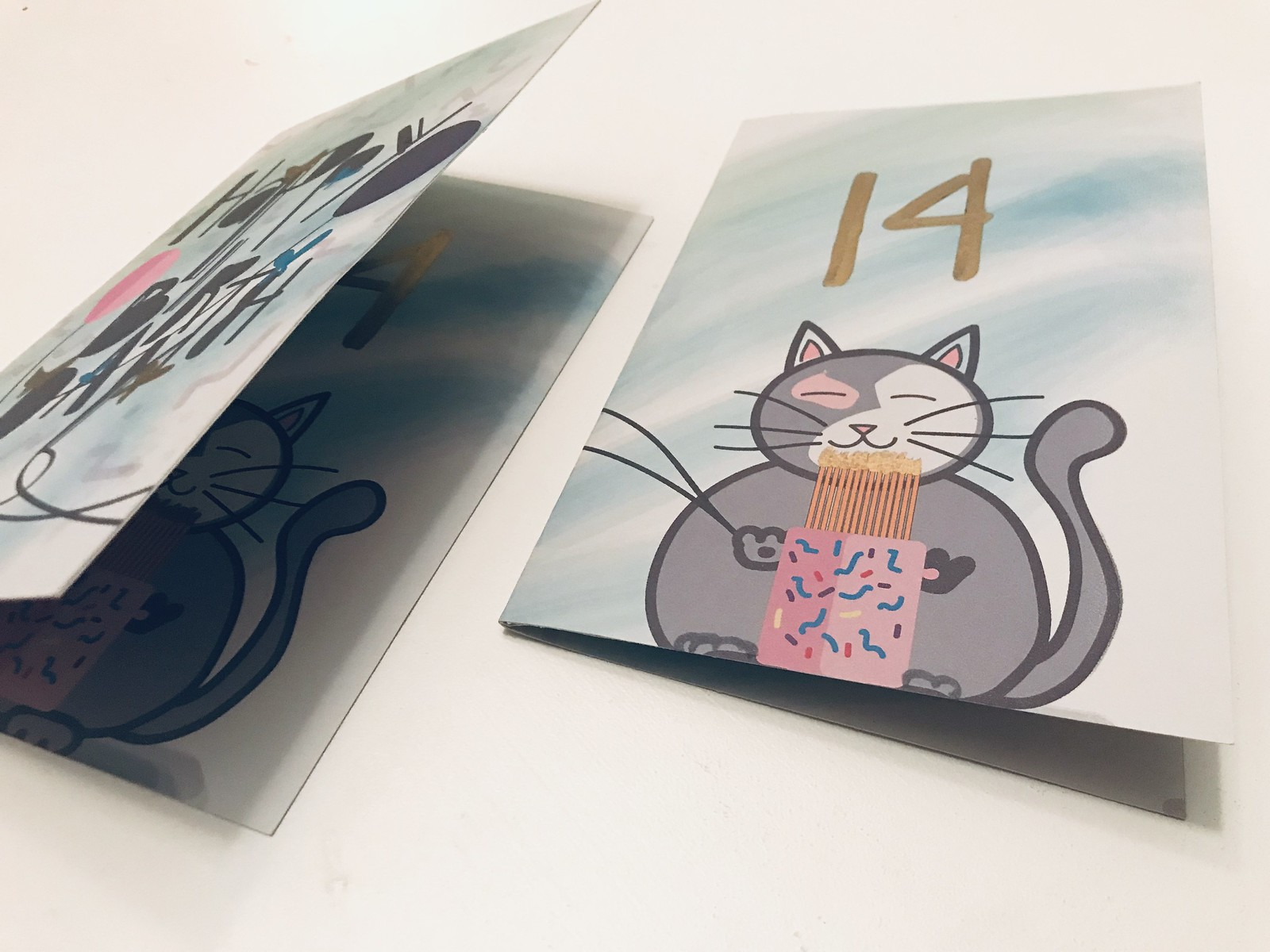 Abigail's Birthday Card Design, Card Design, Birthday Card Design, Cat illustration, Cat Card Design, Cute Cards for kids, Childrens Birthday Cards, Birthday Cards, B  E  C  C  A, BECCA studio