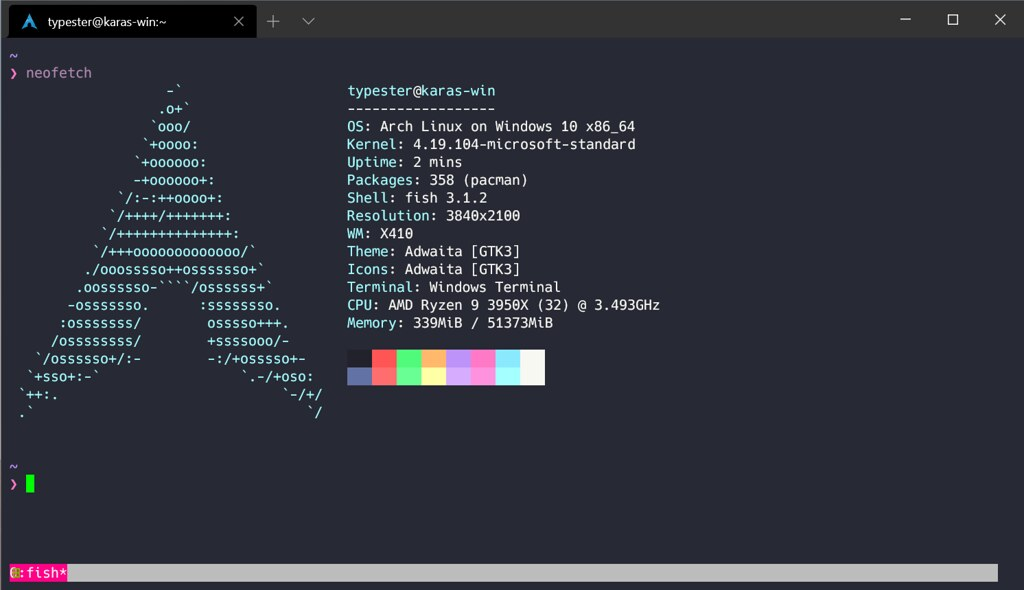 ArchLinux on WSL2