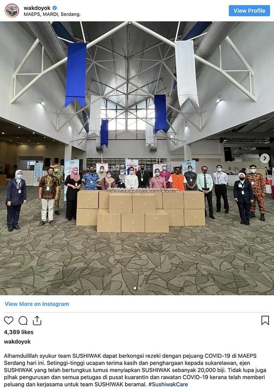 Wak Doyok Sumbang 20,000 Pek Shushi Buat Pesakit & Frontliner Di MAEPS
