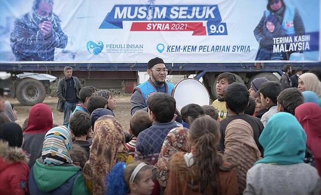 Hazamin Inteam Sertai Misi Kemanusiaan Musim Sejuk di Syria