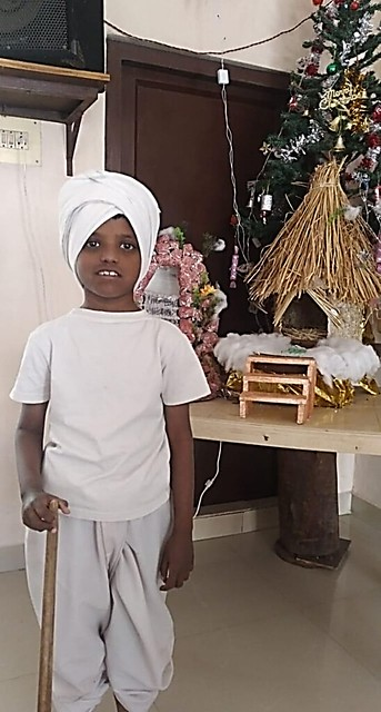 Mohit as a shepherd boy for  Christmas