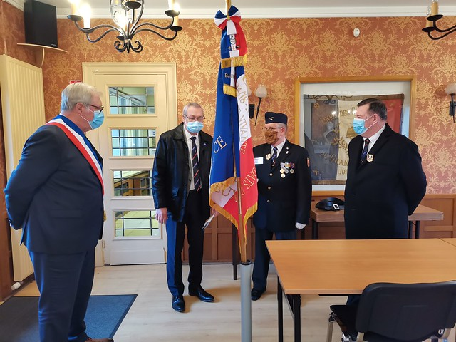 Bénédiction du nouveau drapeau de l'UNC Baisieux