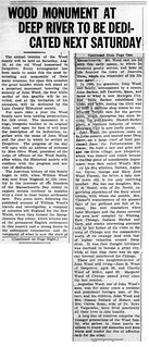 2021-01-30. Wood Monument to Be Unveiled, News, 8-14-1924