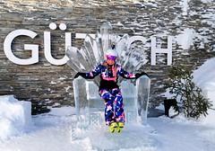 Ledový trůn u výstupu lanovky Gütsch-Express