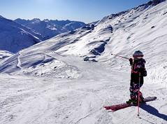 Červená sjezdovka č. 25 ze Schneehüenerstocku (2600 m)