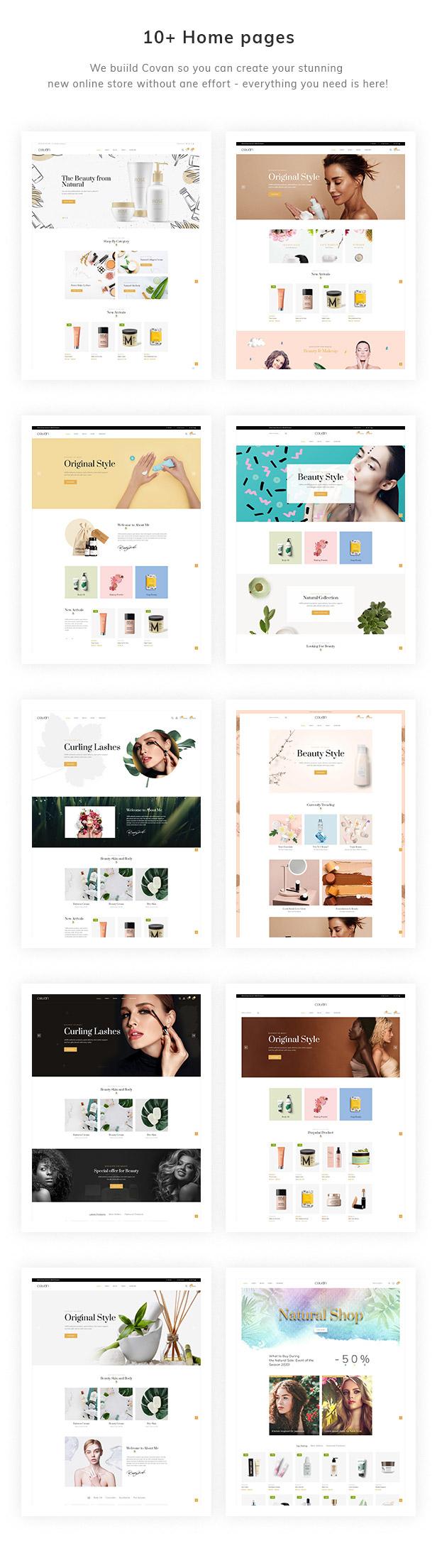 10+ Beauty & Cosmetics Homepage Demos
