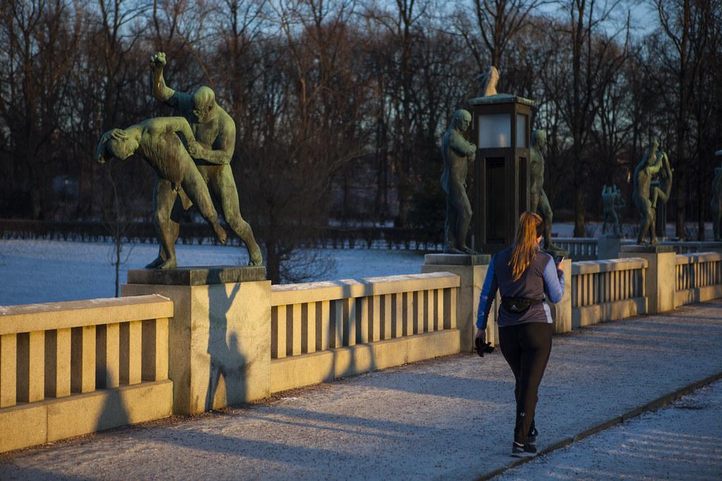 Frognerparken januar 2021