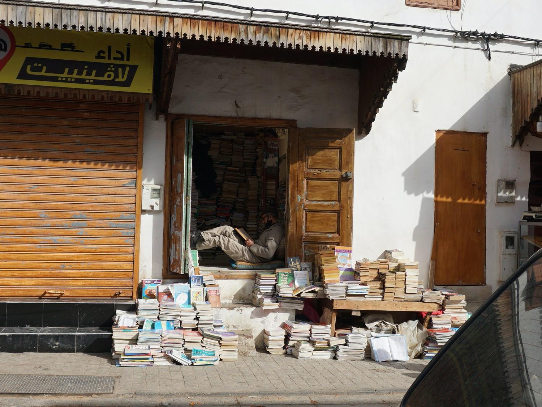 Rabat medina bookstore