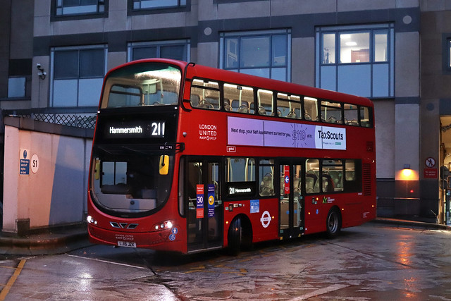 Rare Working: Route 211, London United, VH45133, LJ15JZK