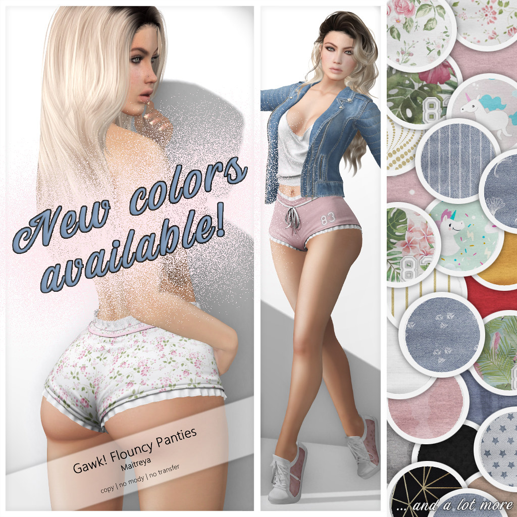 GAWK! Flouncy Panties – NEW COLORS & PATTERNS
