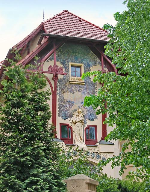 Maison art nouveau du peintre K. V. Mašek à Bubenec (Prague)