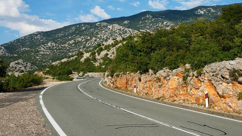 Adriatic Highway through Velebit Mountains, Croatia