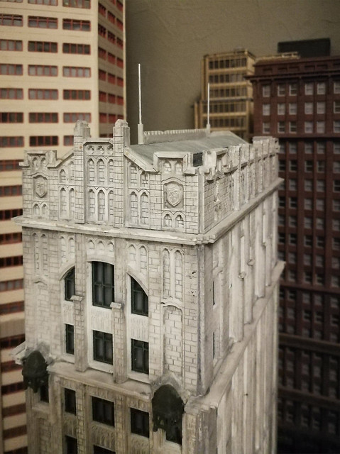 model CMR  fyfe building  with antenna