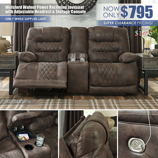 Welsford Power Reclining Loveseat Special_54303_Clearance