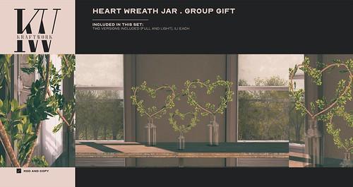 GROUP GIFT KraftWork Heart Wreath Jar