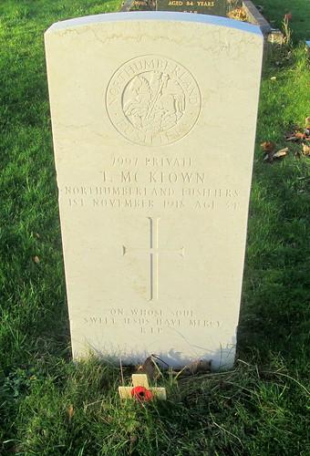 Hebburn, Great War Grave