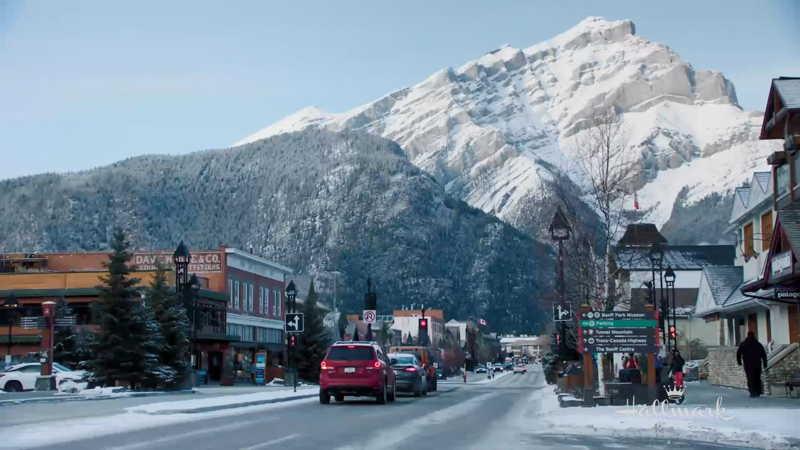 Snowkissed town