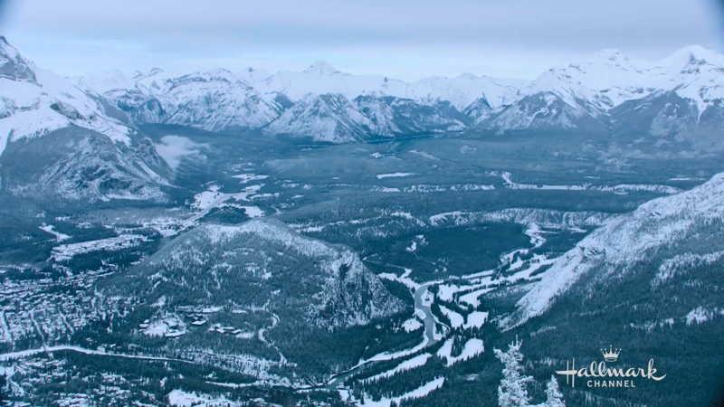 Banff National Park snowed landscape