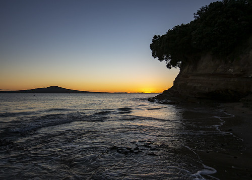 nz newzealand rangitotoisland hauraki gulf takapuna beach sunrise tide morning prada cup course landscape waterscape americas auckland