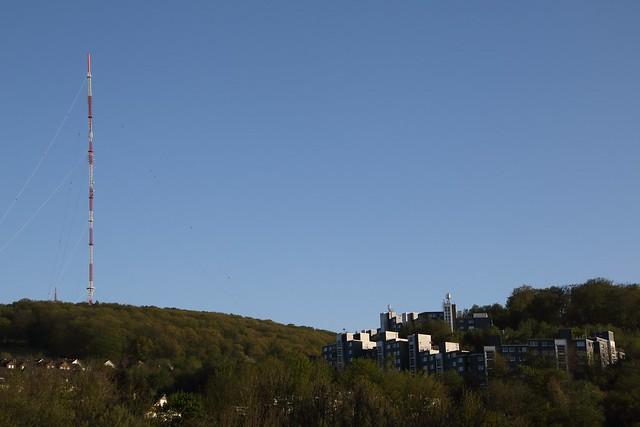 The hills and the radio mast