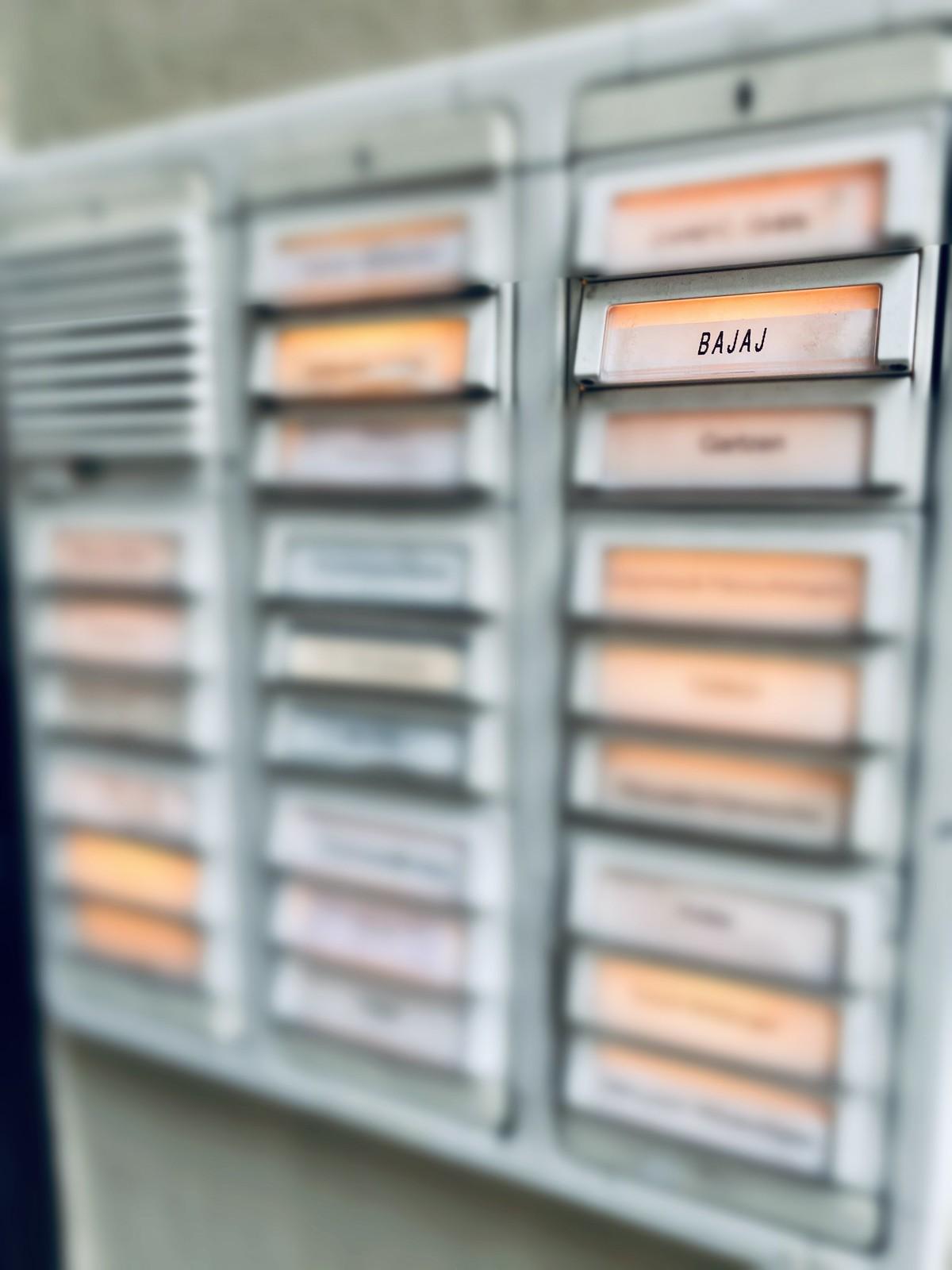 Names on doorbells