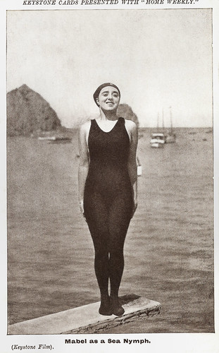 Mabel Normand in The Sea Nymphs (1914)
