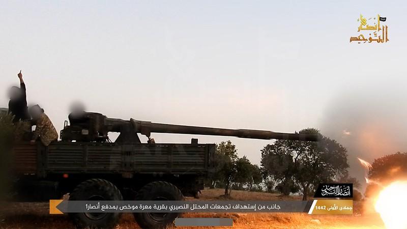 115mm-2A20-T-62-Ural-ansar-al-tawhid-idlib-c2021-twco-1