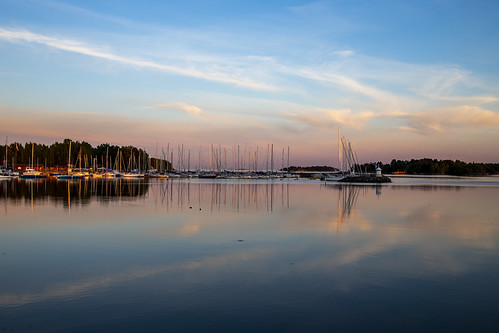 canon6d landscape nature outdoors outside finland espoo boast sunset water reflection sea sky clouds