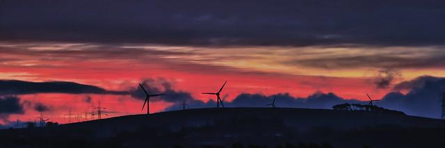 Turbines at Sunrise (Kype Hills) [Explore 1/2/21]