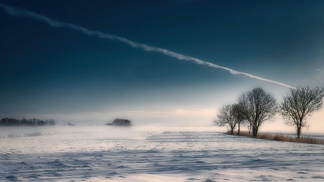 Winter in Norddeutschland-Zetel