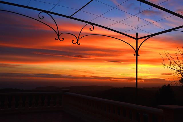 Coucher de soleil sur la Mediterranée_7196