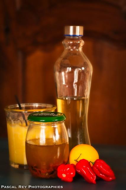 Kéfir, Lemon Curd & huile pimentée faits maison.