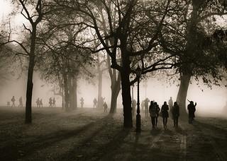 A3 Városnézők a reggeli ködben-