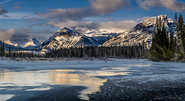 Morning in Canadian Rockies.