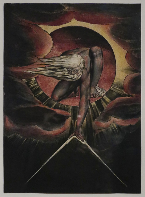 'Europe' Plate I, Frontispiece,'The Ancient of Days', 1827, William Blake
