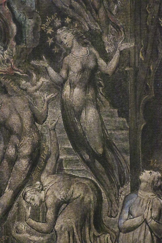 Detail -Epitome of James Hervey's 'Meditations among the Tombs', c.1820-5, William Blake