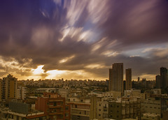 Cloudy Sunset over Beirut
