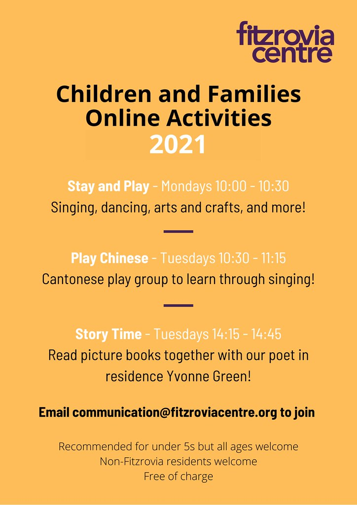 Children and Families Online Activities 2021