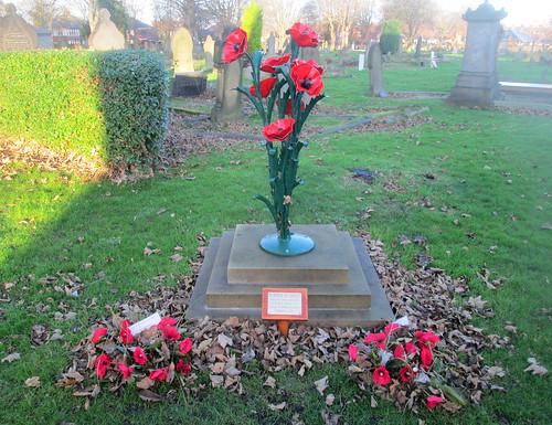 Poppies in Steel War Memorial, Hebburn Cemetery