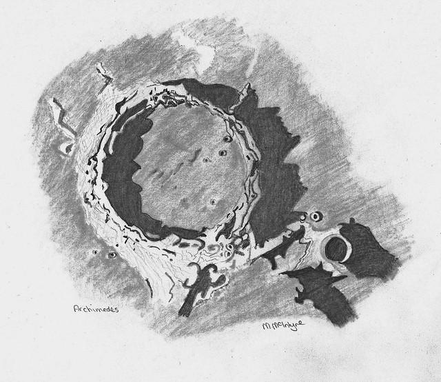 Archimedes Pencil Sketch