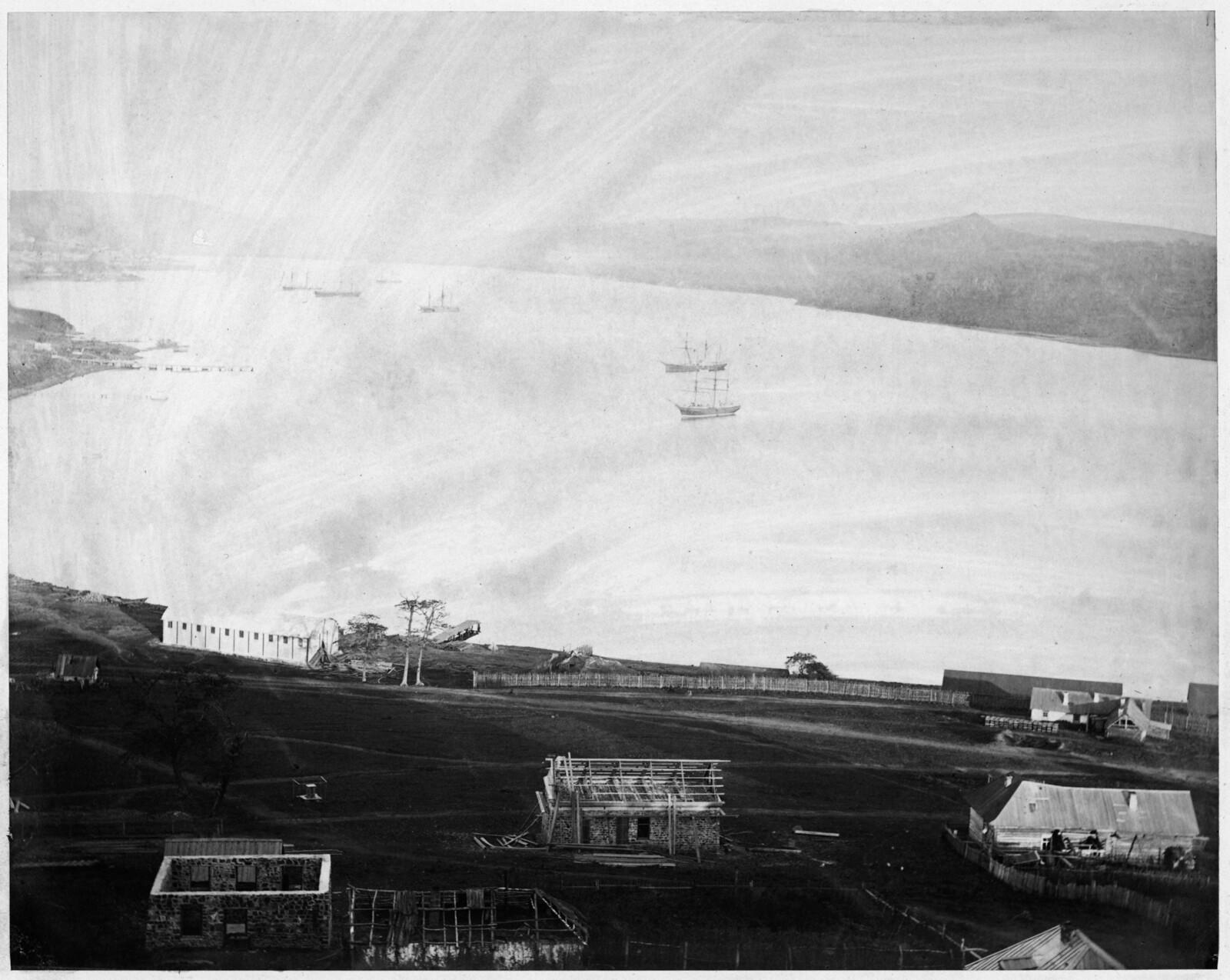 Вход в бухту Золотой Рог. 1865