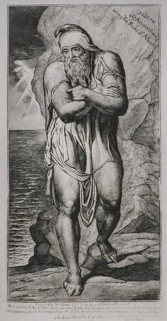 Joseph of Arimathea among the Rocks of Albion, c.1810, William Blake