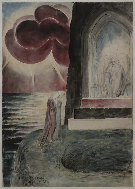 Dante and Vergil Approaching the Angel Who Gurds the Entrance of Pergatory, 1824-7, William Blake