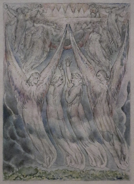 Christian and Hopeful at the Gates of Heaven, William Blake