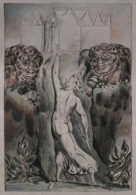 Christian Passes the Lions, William Blake
