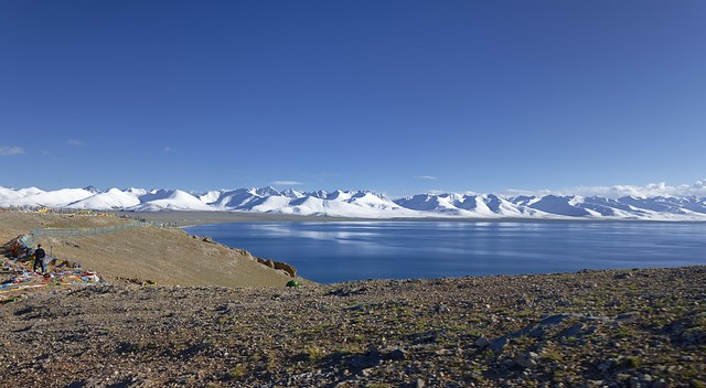 Lake Namtso and the Nyenchen Tanglha mountain range, Tibet 2019