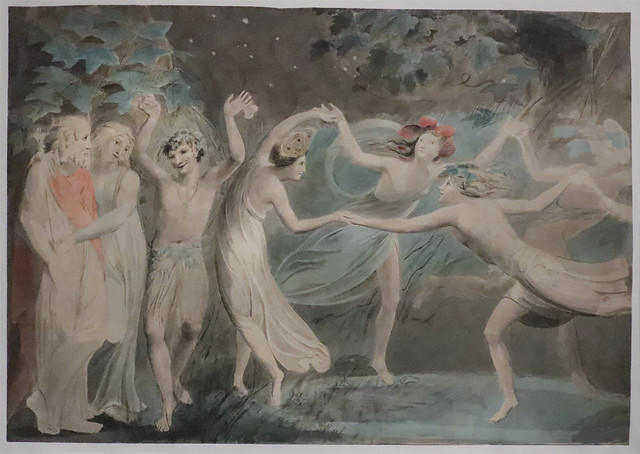 Oberon, Titania and Puck with Fairies Dancing, c.1786, William Blake