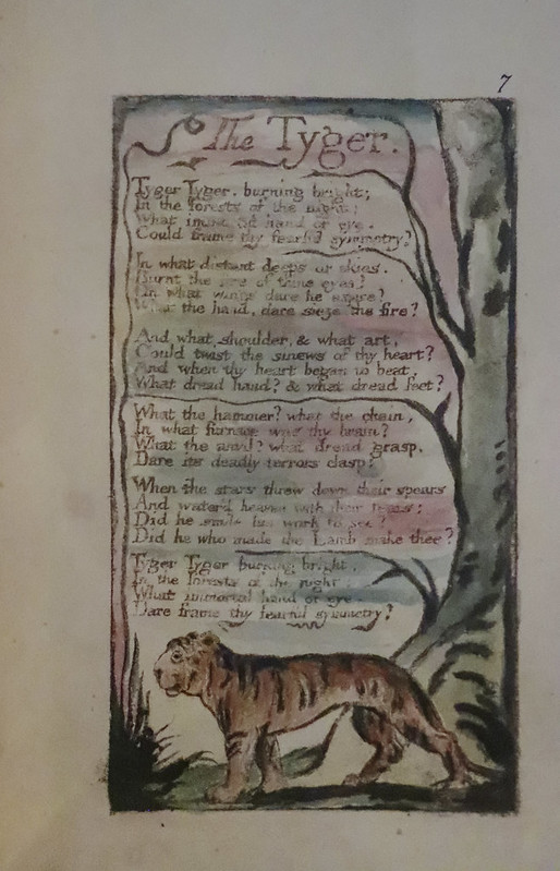 The Tyger, Songs of Innocence and of Experience, c.1795, William Blake